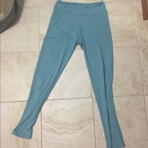 Heathered baby blue leggings